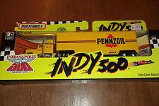 MATCHBOX INDY 500 RACE CAR TRANSPORTER PENNZOIL 1991 1:64 SCALE DIECAST  1(15)