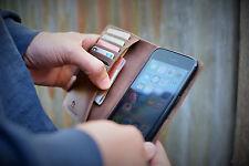 Handmade Apple iPhone 6 Plus Case Genuine Rustic Real Leather Dark Brown RRP $75