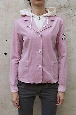 Geox Courduroy Pink Girls 12 Years Hooded Jacket Coat Flower Ladies S