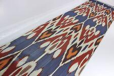 Ikat Fabric, Ikat Fabric by the yard, Handmade Fabric, Uzbek Fabric, XB 583