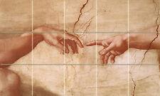 Art Mural Michelangelo Travertine Backsplash Tile #84
