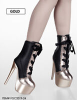 Flirty Girl 1/6 FGC2019-24 Female Middle Boots High-heel Strap Shoes Accessories