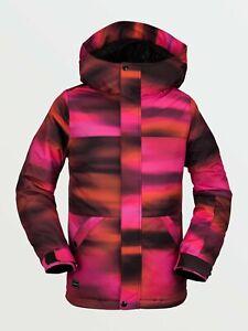 2021 NWT GIRLS VOLCOM SASS'N'FRASS INSULATED JACKET $150 M Bright Pink 2 layer