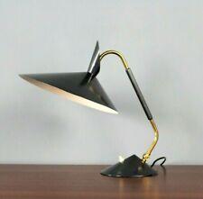 Mid Century Brass Desk Table Lamp Schreibtischlampe 60's Stilnovo Kaiser Ära