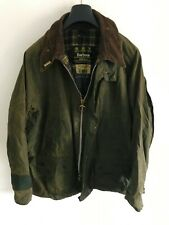 Mens Barbour Bedaler wax jacket Dark Green coat 50 in size Extra Large / 2XL #3