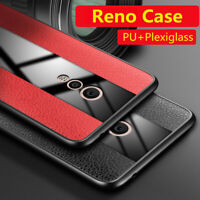 For OPPO Reno 10x Zoom, Case Ultra Slim Leather Glass Hybrid Soft Rugged Cover