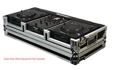 "Odyssey FR10CDJWE DJ Coffin w/ Wheels For  2 Large CD Players  CDJ + 10"" Mixer"