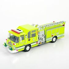 Yellow 1/64 1997 Pierce Quantum Pumper USA Diecast Fire Truck Mode Toy Gift