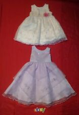 2 PC LOT Tip Top USA GEORGE Sz 24M Girls  EASTER HOLIDAY Dress Lavender WHITE