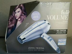 JOHN FRIEDA FULL VOLUME 1875 WATT HAIR DRYER/NEW OPEN BOX,FAST SHIPPING..