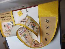 altes Rollbild Akt Sex Stellungen China Gemälde Aquarell Scroll HANDARBEIT  3,8m