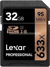 Lexar SDHC 32GB Professional Class 10 633X 95MB/s Flash Memory Card New ct