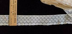 Vintage/Antique, Ecru Cotton Lace 9 2/3 Yards