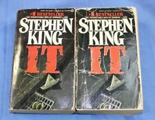 Stephen King IT First edition paperback, 1987 lot of 2
