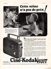 "1936 - CINE-KODAK  ""8"" Camera 8mm- French Ad"
