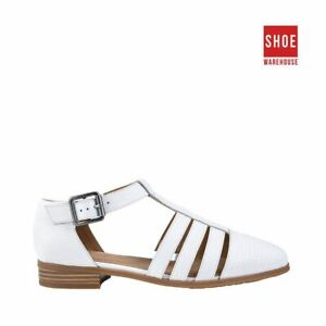 Hush Puppies LOLA White Womens Flat Casual Leather Shoes