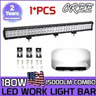 """28inch 180W CREE LED WORK LIGHT BAR FLOOD SPOT Combo OFFROAD TRUCK LAMP 4WD 30"""""""