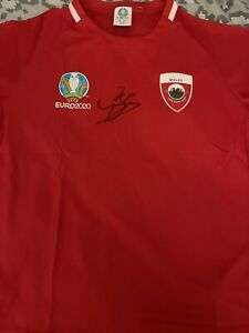 Gareth Bale Hand Signed White Euro 2020 Wales Shirt