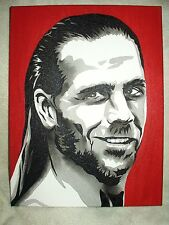 Canvas Painting Wrestler Shawn Michaels Red B&W 16x12 inch Acrylic