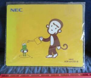 NEW Vintage NEC Promo MOUSEPAD Monkey Frog Japan Computer Software IT Advertise