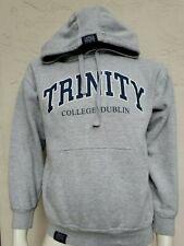 Trinity College Dublin Hooded Sweatshirt Hoodie Grey Official Merch Large L EUC