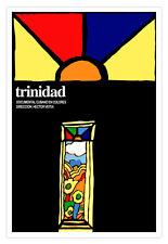 Cuban decor Graphic Design movie Poster for Cuba film.TRINIDAD.Color Vitral