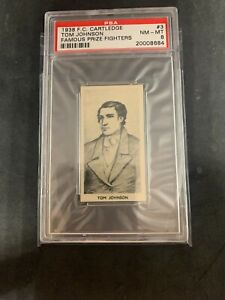 1938 F.C. Cartledge Famous Prize Fighters Boxing Tom Johnson #3 PSA 8 NM-MT