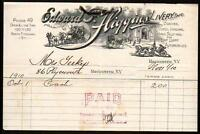 1910 Rochester - Edward F Higgins Livery - Automobiles Hansoms  - Letter Head