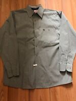 George Strait Cowboy Cut Collection Wrangler Mens Sz XL Shirt GreenPlaid Western