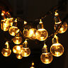 6m 20 LED Globe Bulb Ball String Light Home Yards Party Wedding Decor Fairy Lamp