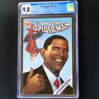 Amazing Spider-Man #583 💥 CGC 9.8 💥 Obama Variant 1st Printing 2009 Comic 583B