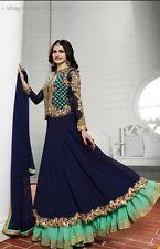 INDIAN anrkali etnico Designer Salwar Suit Bollywood Pakistano NUOVO Partywear 35