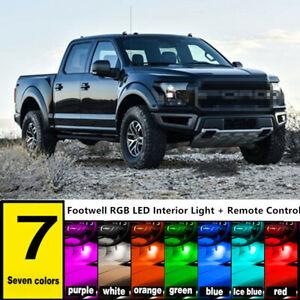RGB LED Light Interior Decor Colorful For Chevy Dodge Pickup GMC Trucks + Remote