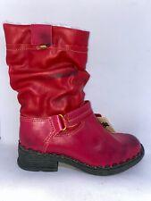 TMA Eyes Damen Stiefel Stiefeletten Boots Rot Leder UK6 Gr.40 Neu mit OVP
