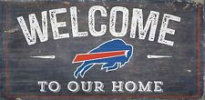 "Buffalo Bills Welcome to our Home Wood Sign - 12"" x 6""  Decoration Gift"
