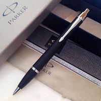Good Perfect Parker IM Ballpoint Pen Matte Black Silver Clip 0.5mm Fine Nib Pen
