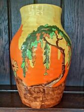 More details for clarice cliff memory lane lotus vase art deco china pottery