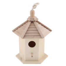 Hanging Wooden Nesting Box Bird Nest House Small Birds Robin Sparrow Bluetit
