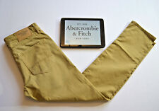 ABERCROMBIE & FITCH NEW Khaki Sand Chino Trousers W29 L30 Straight Leg - BNWT