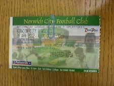 28/04/2002 BIGLIETTO: play-off semi-finale Divisione 1, Norwich City V WOLVERHAMPTON