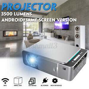 3500 Lumens T6 LCD Projector 1280 x 720P HD LED Projector Home Theater USB  ~