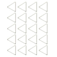 20pcs White K Alloy Triangle Ring Pendants Charms Finding for Jewelry Making