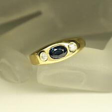 Ring Bandring mit 0,16ct Brillant und 0,71ct Saphir in 750/18K Gelbgold