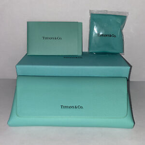 New Tiffany & Co. Eyeglasses Magnetic Case Box Cleaning Cloth & Certificate