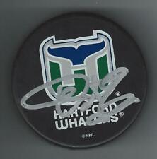 Pat Verbeek Signed Hartford Whalers Puck
