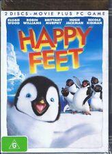 HAPPY FEET DVD Voices Of Elijah Wood, Robin Williams Hugh Jackman NEW & SEALED