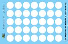[FFSMC Productions] Decals 1/24 Disques blancs 22,5 mm ! 22.5 mm white circles