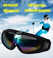 Adults Winter Snow Sports Glasses Ski Snowmobile Snowboard Goggles Skate Eyewear