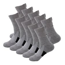 10 Pairs Mens Athletic Cotton Casual Long Sport Work Crew Socks Size 9-11 6-12