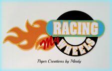 CRAFTECAFE MINDY CAR RACING WHEELS premade paper piecing scrapbook title die cut